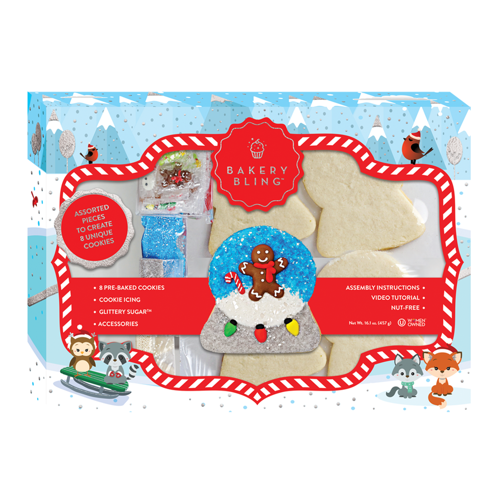 Snowglobe Christmas Cookie Designer Cookie Decorating Kit by Bakery Bling