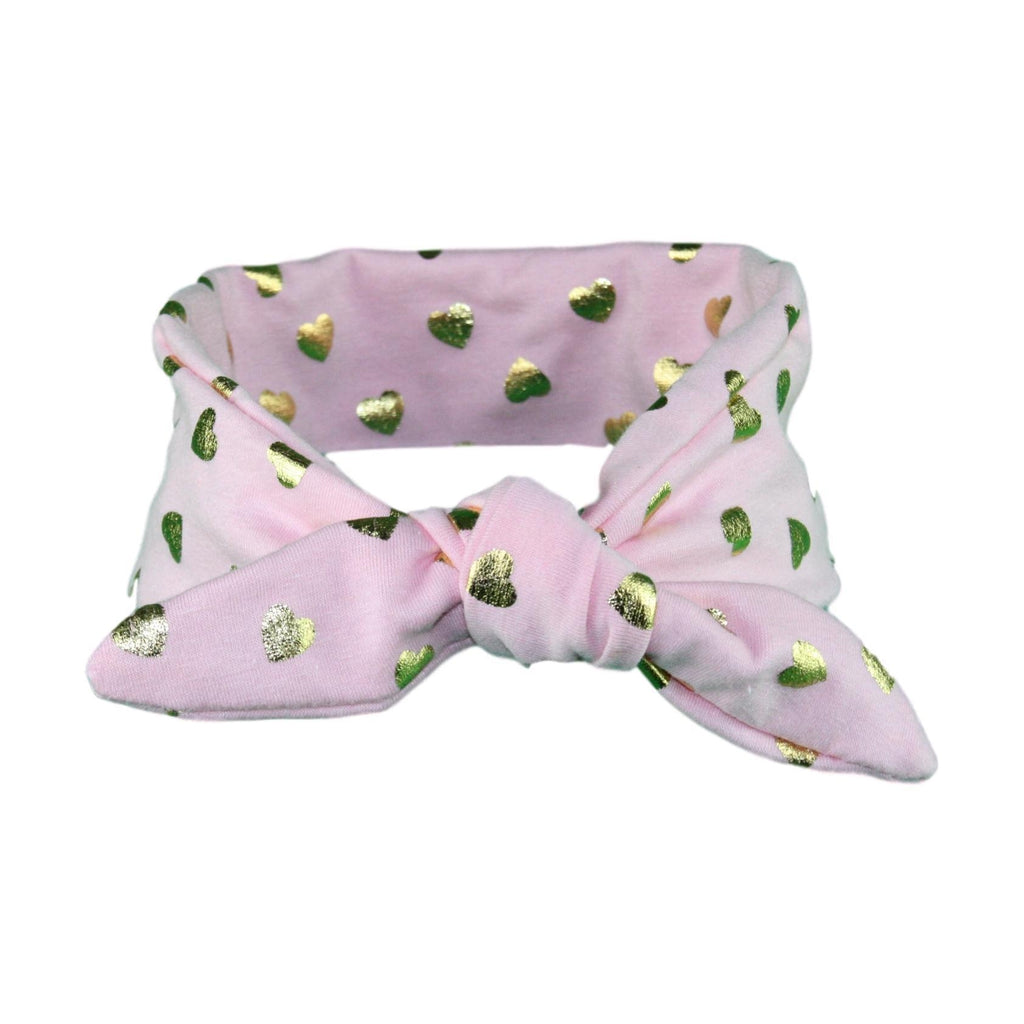 Pink & Gold Hearts Baby/Toddler Hair Wrap (Hand wash only)