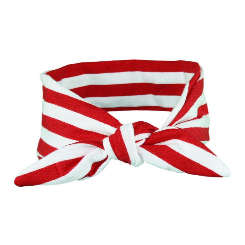 Red & White Stripey Baby/Toddler Hair Wrap