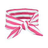 Fuchsia Pink & White Stripey Baby/Toddler Hair Wrap
