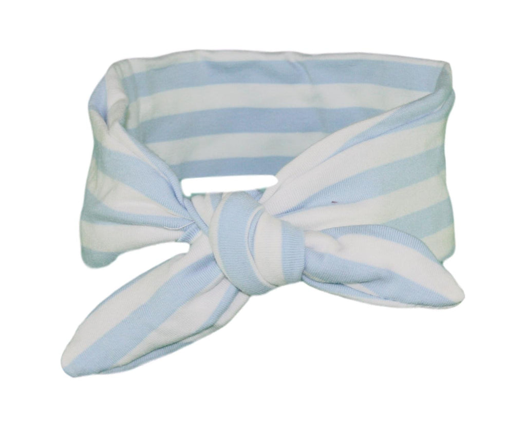 Baby Blue & White Stripey Baby/Toddler Hair Wrap