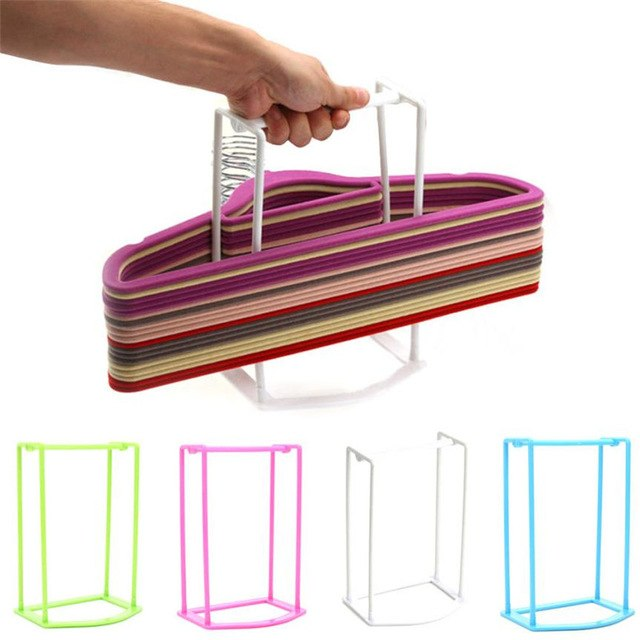 1PC DIY Plastic Hangers Storage Frame Stand Home