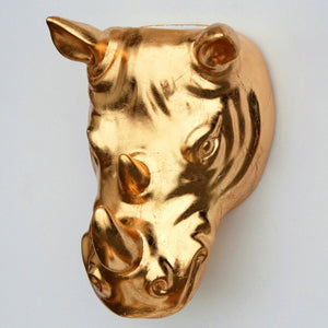 RHINO Gold Gilded Indoor/Outdoor Wall Planter