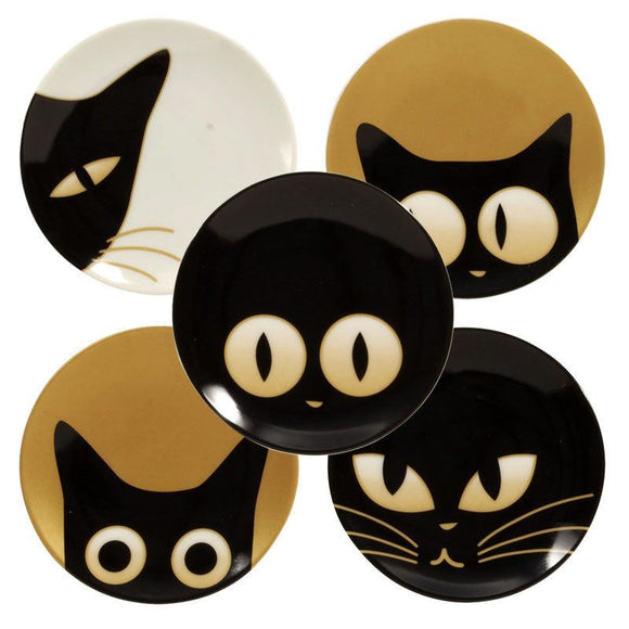 Cat Eyes Mini Plates, Set of 5