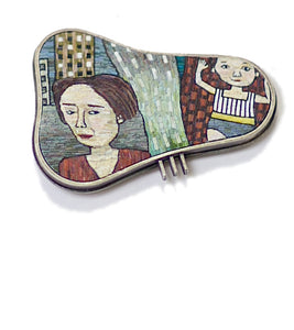Cynthia Toops - Thursday's Child Brooch