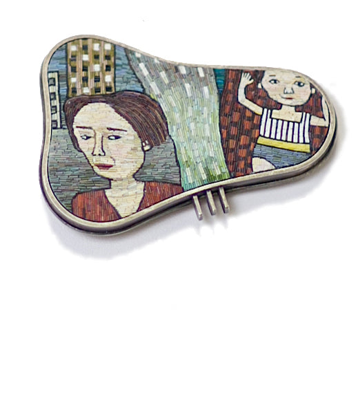 Cynthia Toops—Thursday's Child Brooch