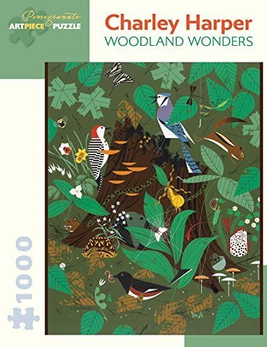 Charley Harper—Woodland Wonders Puzzle, 1,000 Pieces