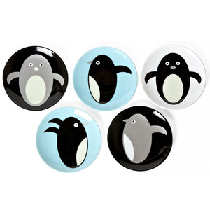 Penguin Mini Plates, Set of Five
