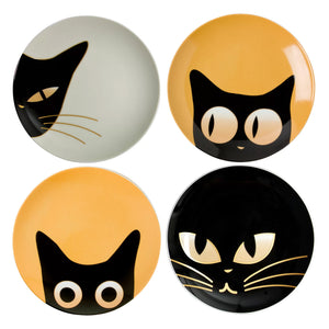 Cat Eyes Plates, Set of 4