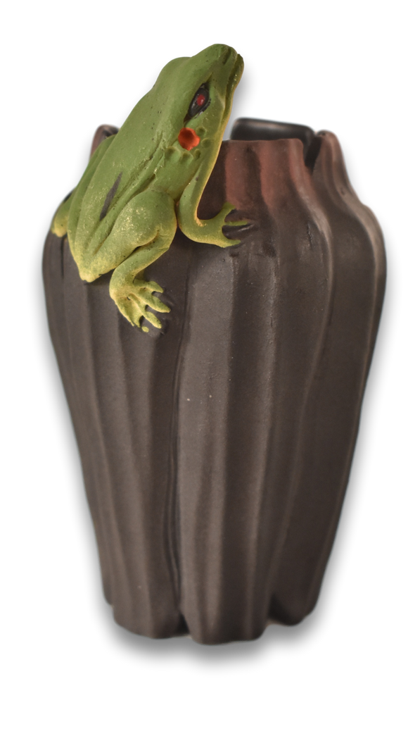 Nancy Y. Adams - Large Vase, Frog