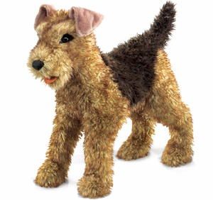 Plush Airedale Terrier Puppet