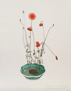Beth Van Hoesen—Poppies in an Oriental Bowl
