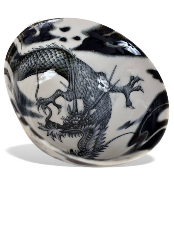 Black and White Dragon Bowl