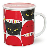Cat Mugs with Lids