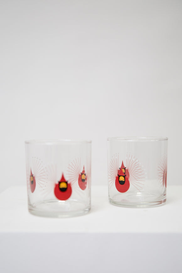 Charley Harper—Red Cardinal Glasses