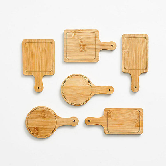 Mini Bamboo Serving Tray Set