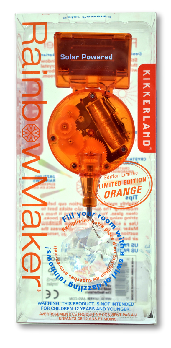 Orange Solar Powered RainbowMaker