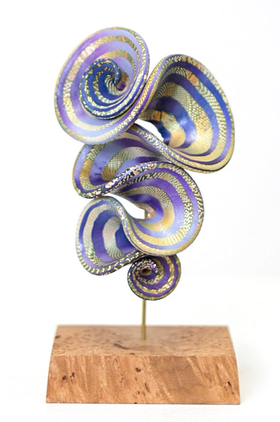Elise Winters—Lilac Esprit Brooch on Stand