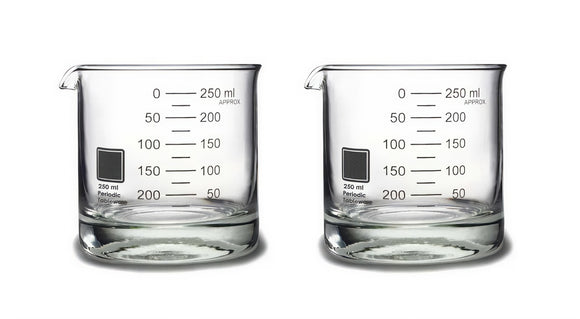 Beaker Rocks Glasses, Set of 2