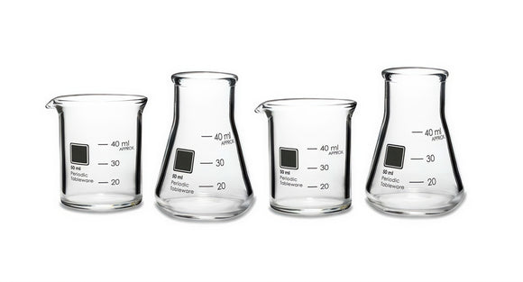 Laboratory Shot Glasses, Set of 4