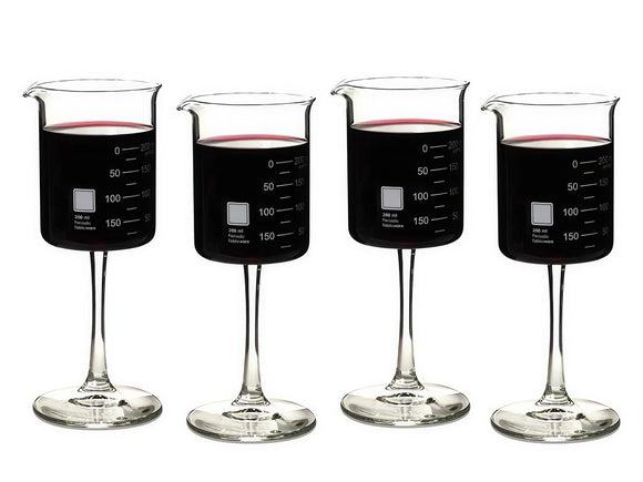 Laboratory Wine Glasses, Set of 4