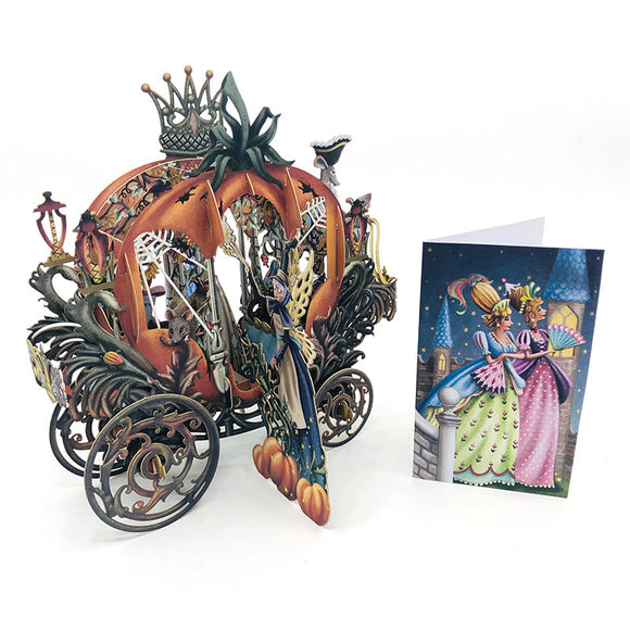 Cinderella Carriage 3D Card