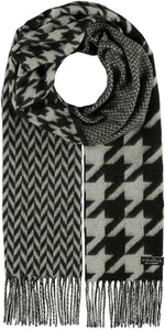 Black and White Print Scarves