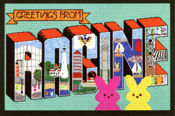 Greetings from Racine PEEPS Postcard
