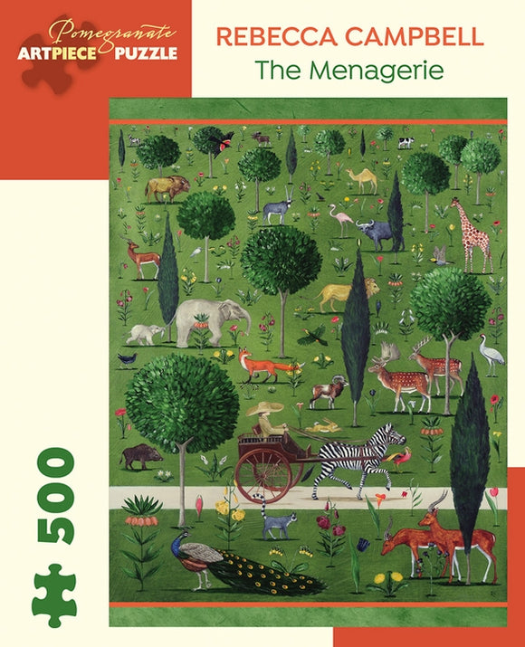 Rebecca Campbell:  The Menagerie Jigsaw Puzzle, 500 Pieces
