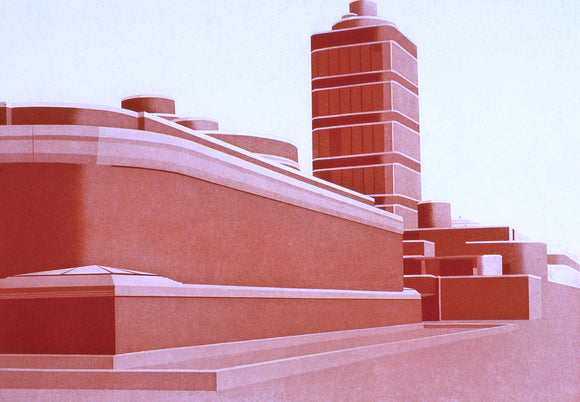Frances Myers—Johnson Wax Building Print
