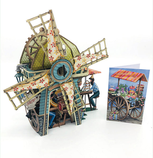 Windmill Tea Shop 3D Card