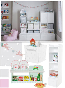 pink and grey star playroom