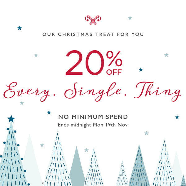 20% off every sing thing