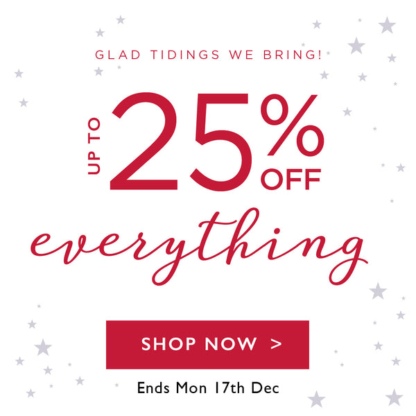 up to 25% off everything