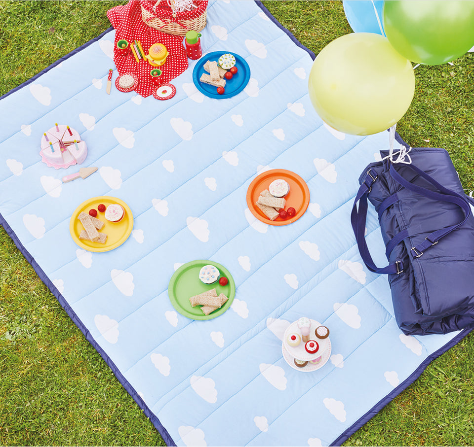 Clouds family picnic blanket