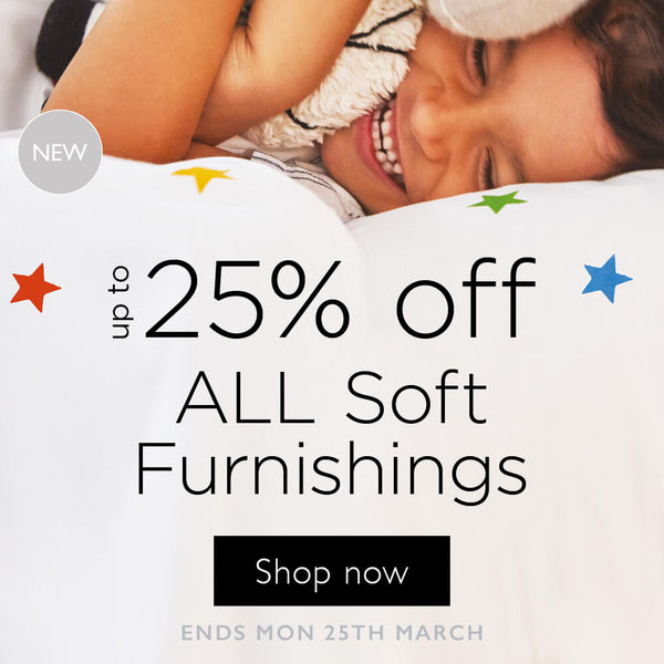 up to 25% off all soft furnishings