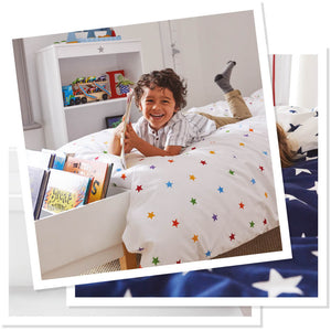 rainbow star children's bedding