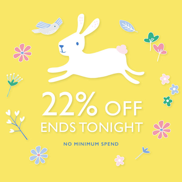 22% off ends tonight