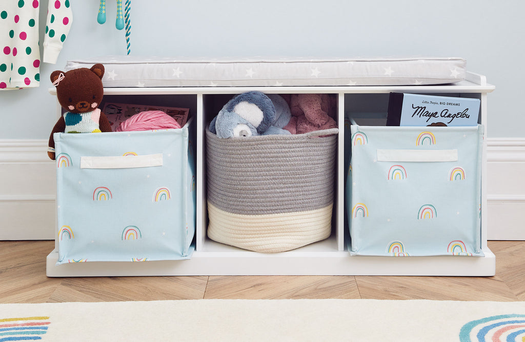 kids' rainbow storage