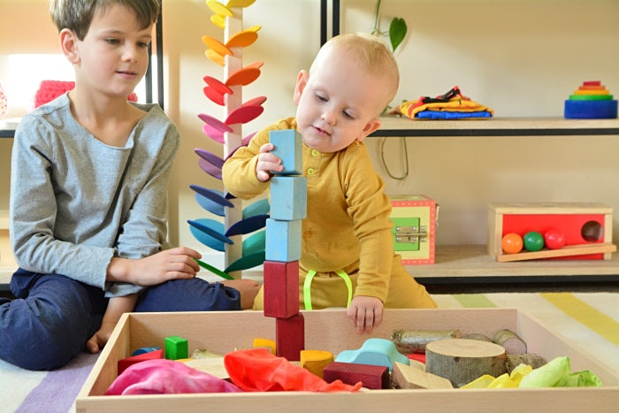 A Montessori-inspired playroom