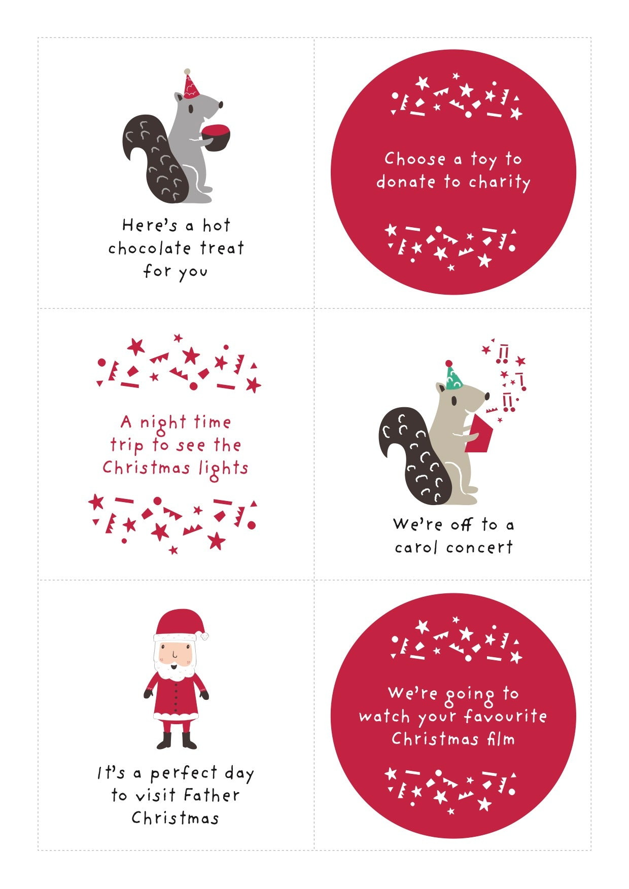 Thirty alternative advent calendar ideas for you to print and use
