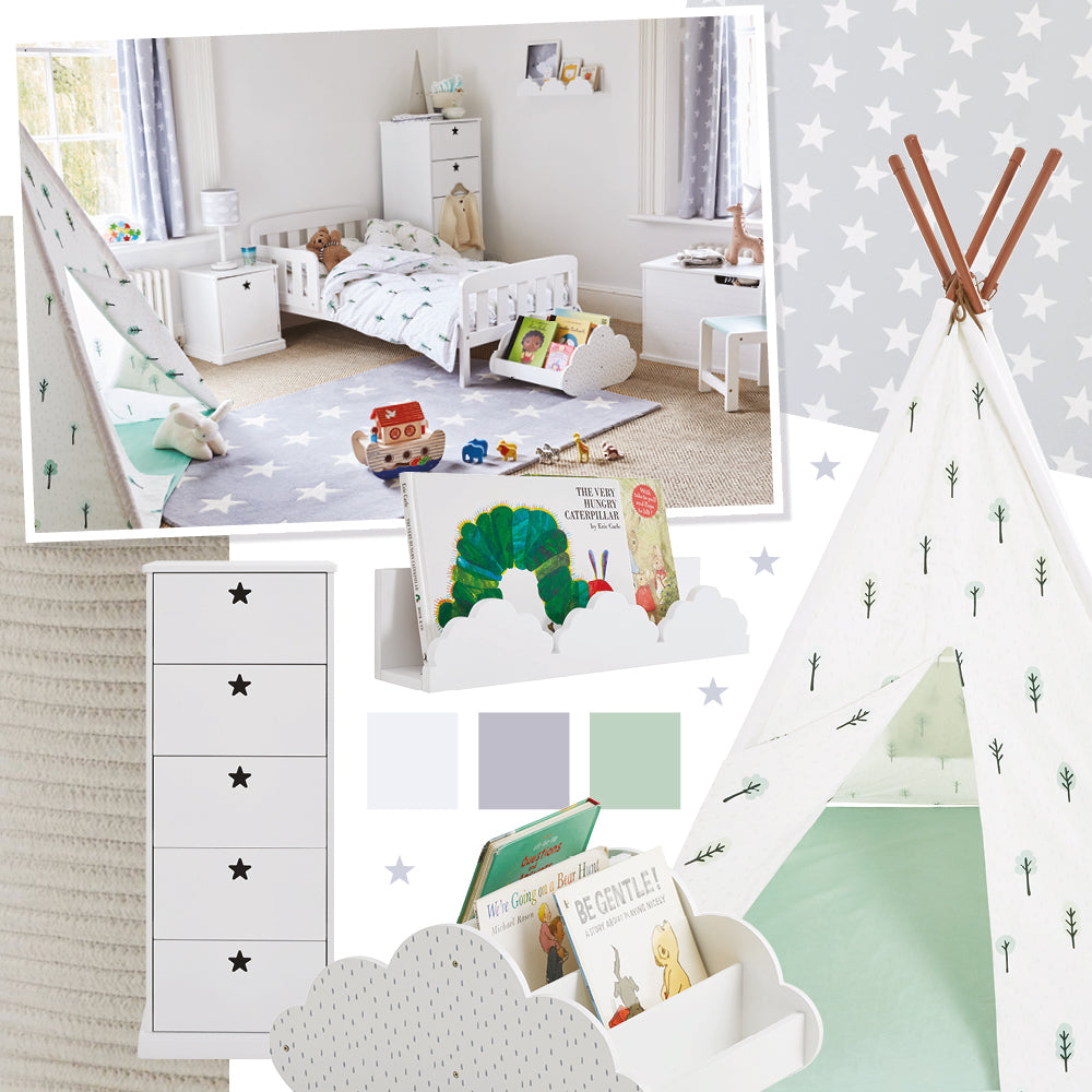 Woodland themed children's room