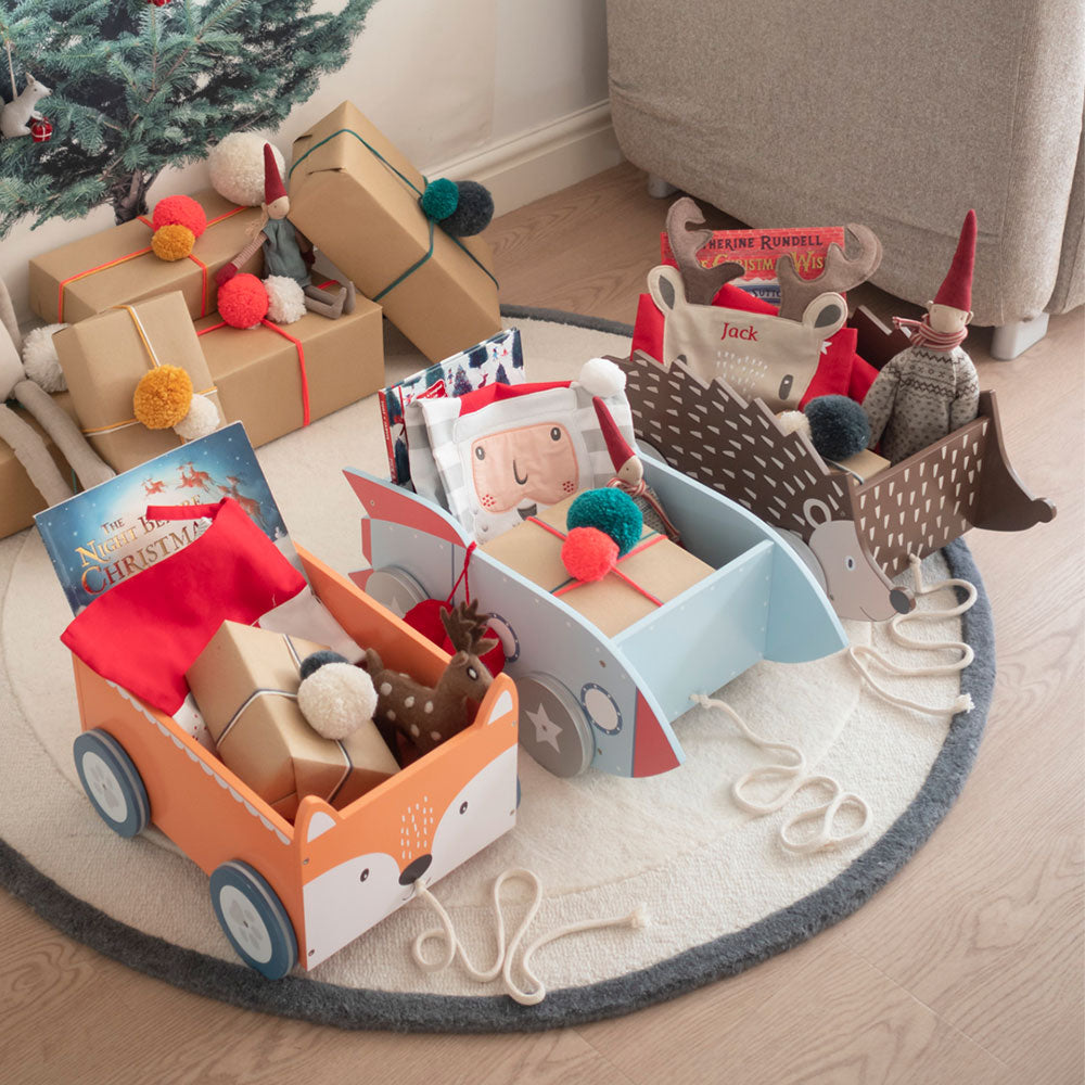 Wooden Christmas Eve boxes for kids