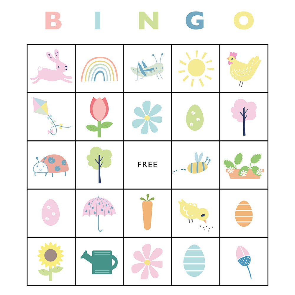 Easter bingo printable for kids