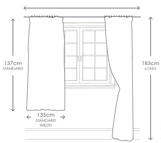 how to measure for curtains great little trading co. Black Bedroom Furniture Sets. Home Design Ideas