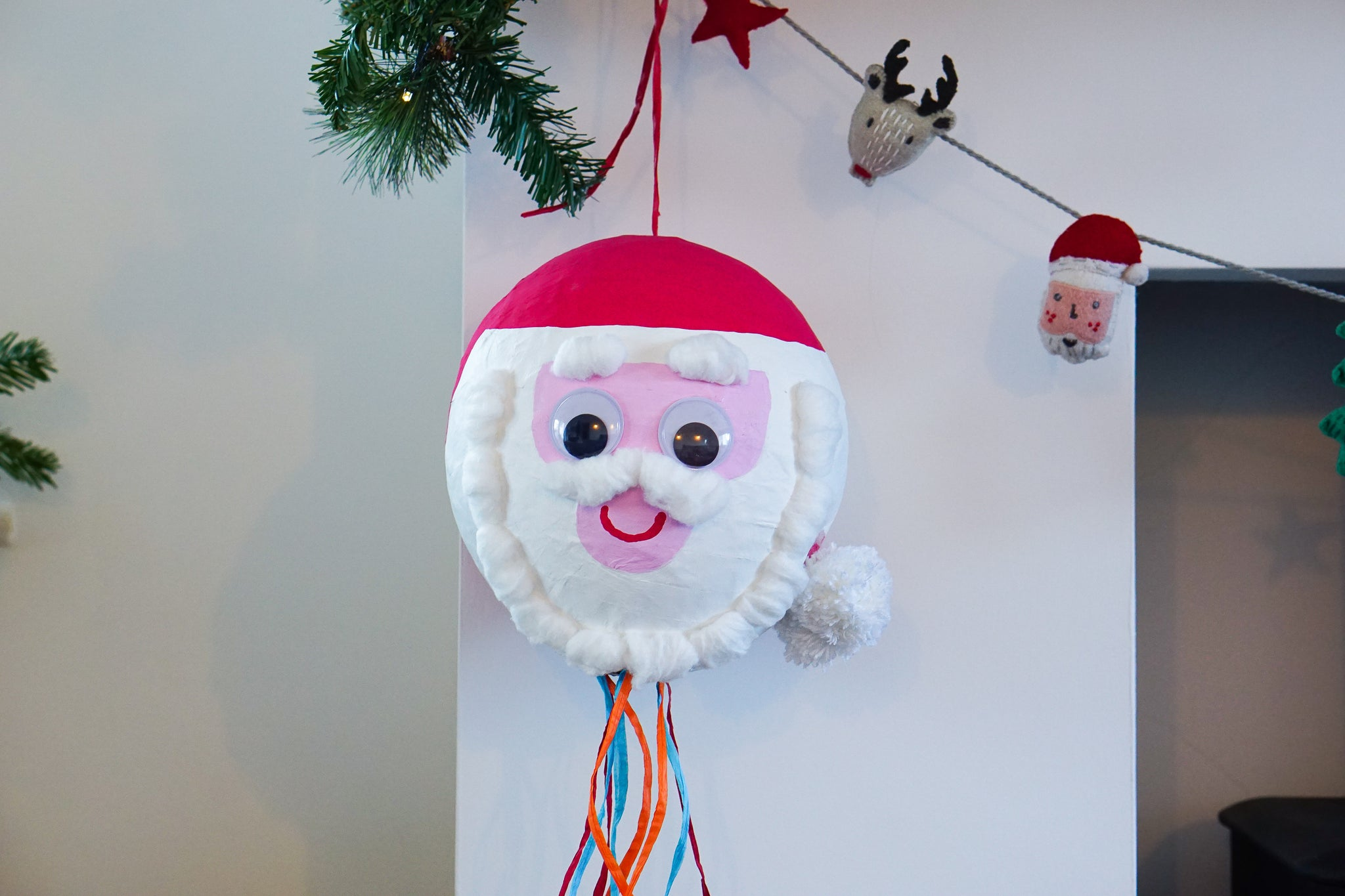 Make your own jolly Father Christmas piñata