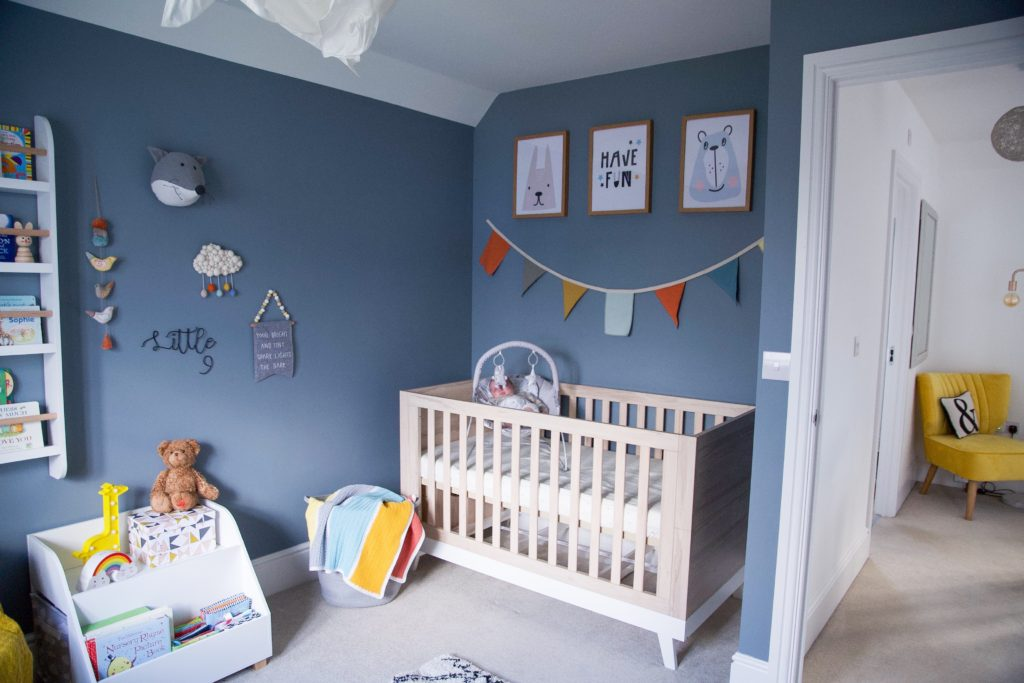 Real rooms: A navy blue nursery for baby Dotty