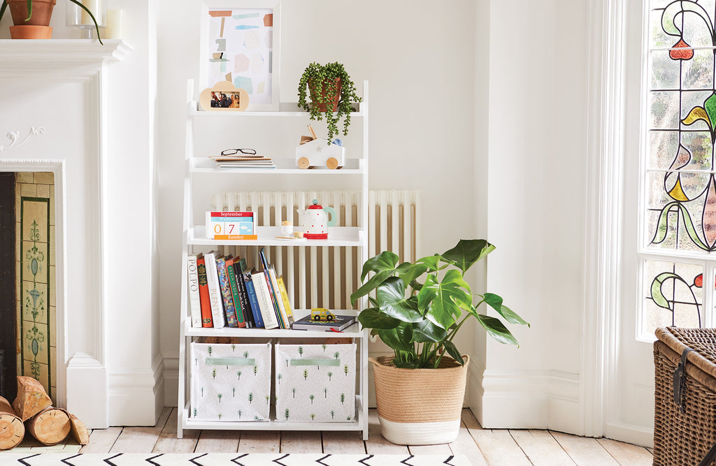 Compass white ladder bookcase