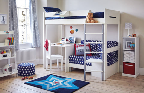 Navy star Merlin High Sleeper collection