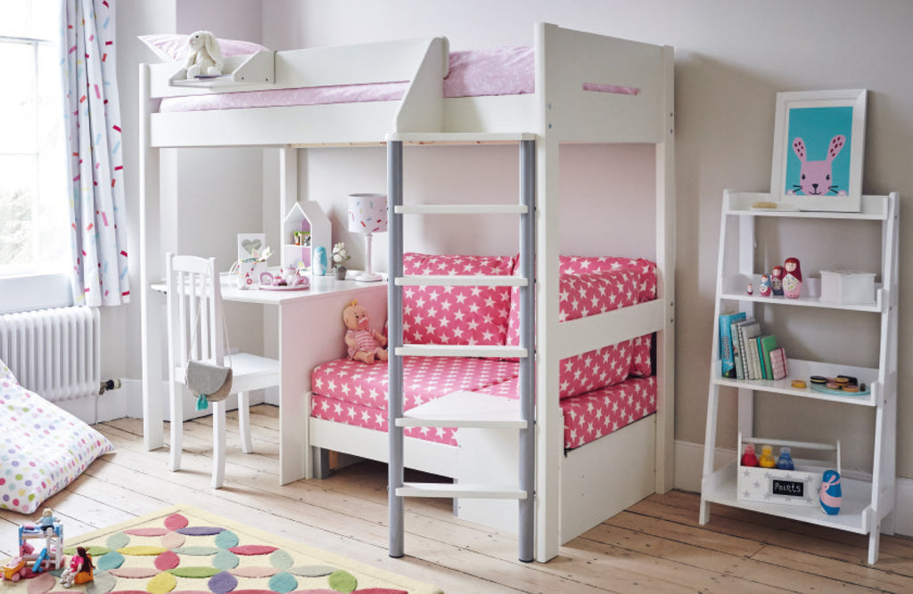 Pink star merlin high sleeper bedroom